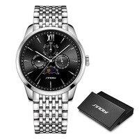 SINOBI luxury Men Business Watch Full Stainless Steel Quartz Men's Wristwatch High End Swiss Craft Watches Relogio Masculino