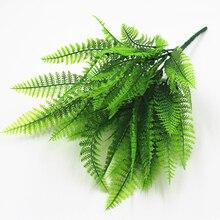 Пластиковые бонсай искусственный лист трава имитация зеленого растения маленькие персидские листья растения для украшения дома сада