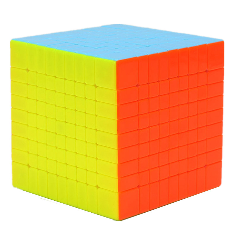 Brand New Yuxin Zhisheng Huanglong High Bright Stickerless 9x9x9 Speed Magic Cube Puzzle Game Cubes Educational Toys for Kids 83mm black and white grid curve7x7x7 speed magic cubes puzzle game educational toys for kids children baby