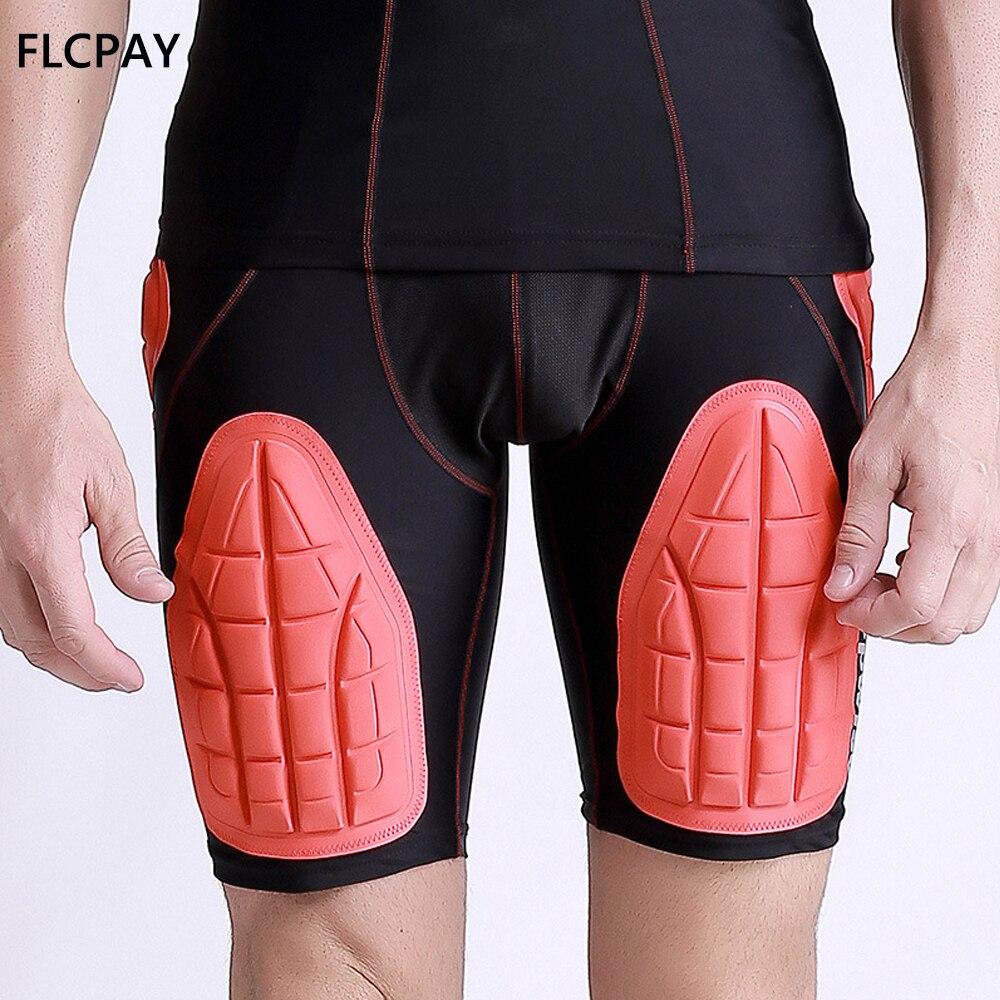 Calções de Compressão Protetor para Futebol Hip e Coxa Acolchoados Costela Paintball Basquete Patinação no Gelo Rugby Futebol