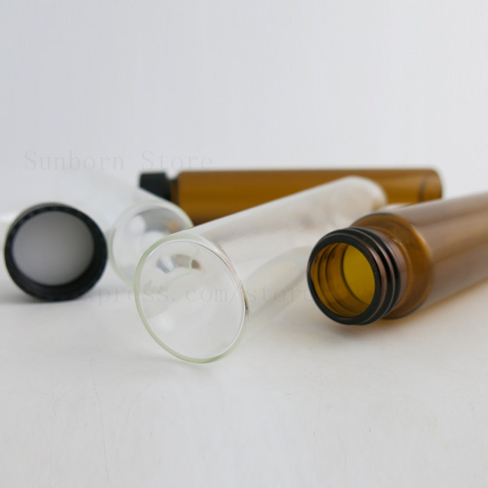 Amber Clear Glass Bottles With Screw Cap Antibiotic Vials 60ml 2oz Medical Liquid Leakproof Packing Bottles 500pcs