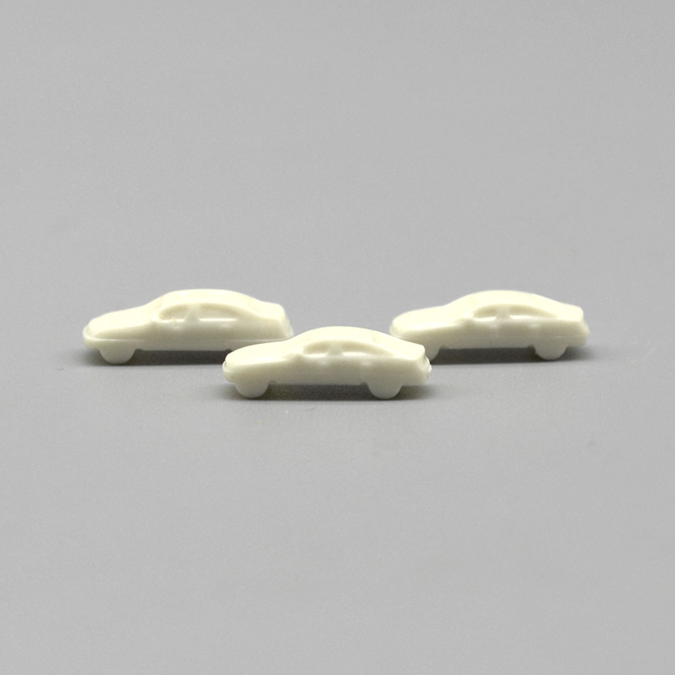 highquality  100pcs/lot 1:500 scale  ABS plastic  white car for architectural model making train layout