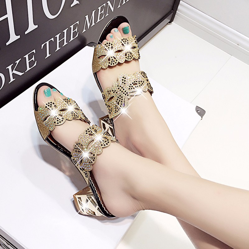 new fashion rhinestone cut-outs women square heel party sandals with butterfly - free shipping! New Fashion Rhinestone cut-outs Women Square Heel Party Sandals with Butterfly – Free Shipping! HTB18aKBLpXXXXbXXXXXq6xXFXXX6
