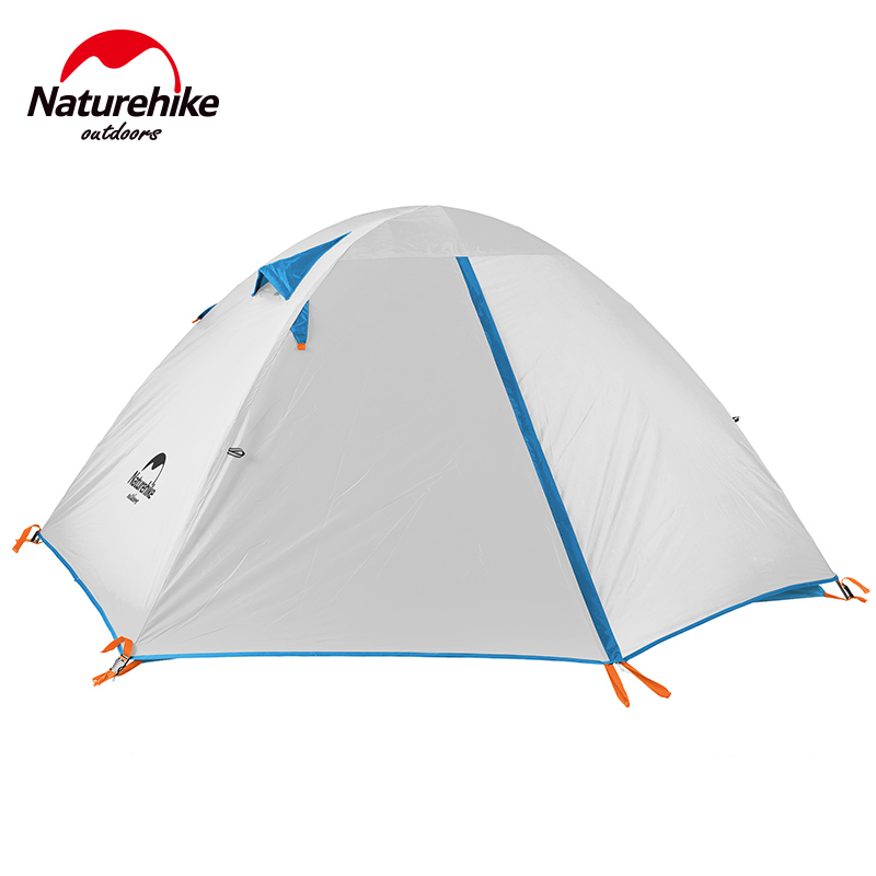 NatureHike outdoor Portable Tent Waterproof tents Double Layer Outdoor Camping Hike Travel Tent Ultralight NH Camping Tents high quality outdoor 2 person camping tent double layer aluminum rod ultralight tent with snow skirt oneroad windsnow 2 plus