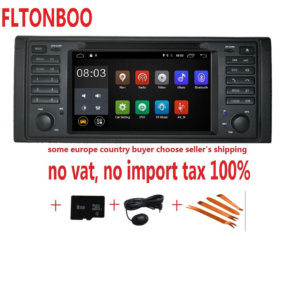 Android 8.1 pour bmw X5, M5, E53 plat voiture dvd, navigation gps, wifi, radio, BT, volant Canbus Livraison 8g carte, micro, écran tactile
