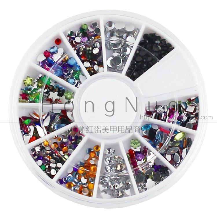 Nail Art Decoration Supplies Mixed Drill Nail DIY Acrylic Drilling Materials Fake Nails Shining Diamond Beauty Tools