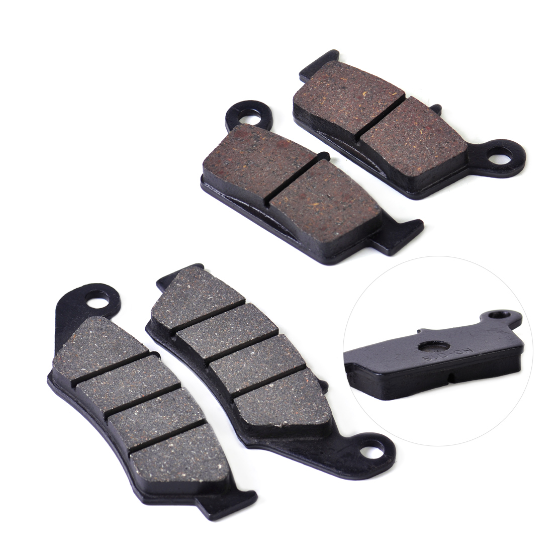 beler 2pcs Front or Rear Brake Pads Fit for Suzuki RM125 RM250 Honda XR250R CR125R Yamaha YZ125 YZ250 Kawasaki KX500 KLX650R
