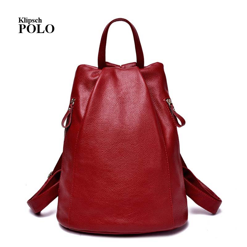 Black Backpack Women Genuine Leather Backpack School Bags Lady Fashion Travel Shoulder Bag Designer backpacks for
