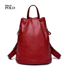 Черный Рюкзак Женщины Натуральная кожа рюкзак школьные сумки модная Женская дорожная сумка дизайнерские рюкзаки для девочек-подростков