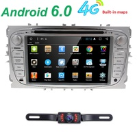 7 HD 2 Din Android 6 0 Quad Core Car DVD Player For FORD Mondeo S