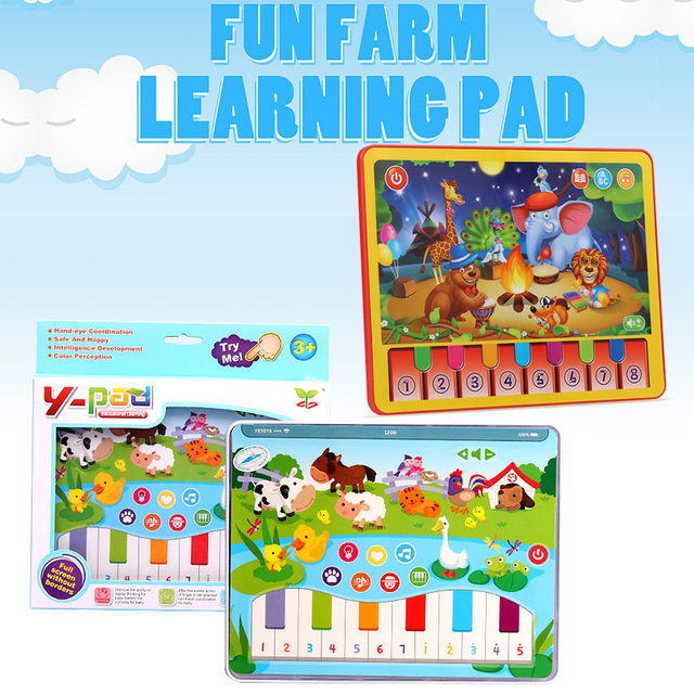 Happy Farm Animal Sound Learning Toy Pad Educational Toys For Kids