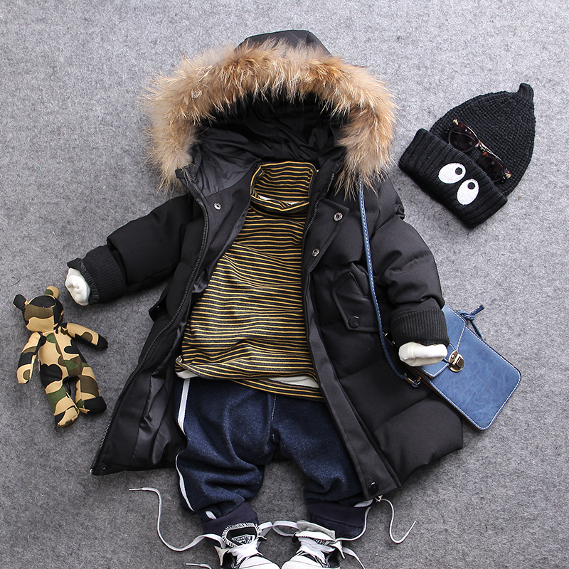 only thick warm coat 1pc 2-8Y new 2017 winter thick warm cotton-padded boys black coat with hood boys casual warm coat women winter coat leisure big yards hooded fur collar jacket thick warm cotton parkas new style female students overcoat ok238