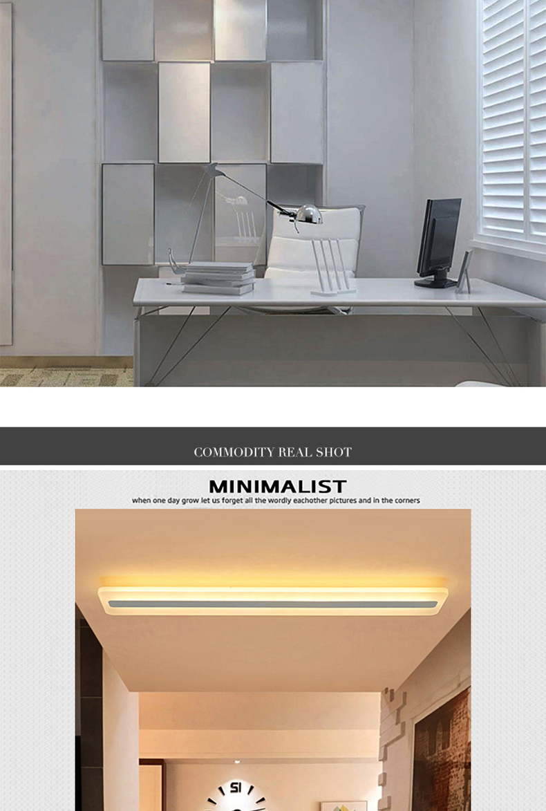 Modern Minimalism High brightness LED ceiling lights rectangular bedroom Livingroom aisl Ceiling lamp lighting lamparas de techo