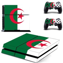 Flag of Algeria decal PS4 Skin Sticker For Sony Playstation 4 Console +2Pcs Controllers