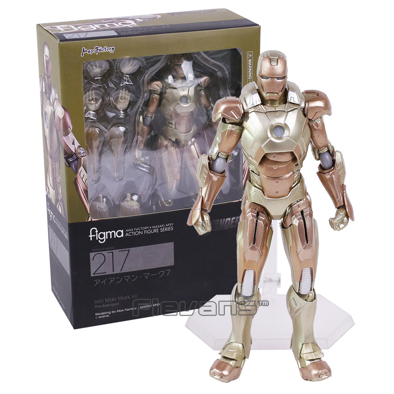 Iron Man 3 Figma 217 / Figma EX-026 Iron Man Mark XXI (MIDAS) PVC Action Figure Collectible Model Toy marvel iron man mark 43 pvc action figure collectible model toy 7 18cm kt027