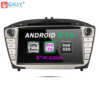EKIY 8'' Car DVD GPS Navigation System for Hyundai Tucson IX35 2Din Android 8.1 Stereo Radio Audio Music Video Multimedia Player