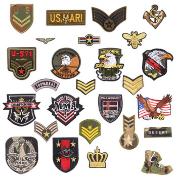 1Pcs Military Iron On Badge Patch Embroidered Applique DIY Airborne Army Sewing Clothes Stickers Garment Apparel Accessories drone helipad