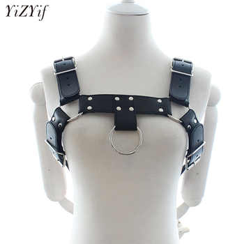 YiZYif Unisex Sexy Body Chest Harness Men Fetish Adjustable Bondage Costume Gay PU Leather Belts Chest Strap Sexy Erotic Linger - DISCOUNT ITEM  29% OFF All Category