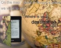 Новое поступление map шаблон кожаный чехол для Amazon Kindle Paperwhite 1 шт. Бесплатная скрин протектор