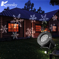 Konesky Holiday Decoration Waterproof Outdoor LED Stage Lights 12 Types Christmas Laser Snowflake Projector Lamp Home