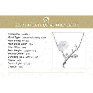Image 5 - Lotus Plezier Echte 925 Sterling Zilveren Handgemaakte Designer Fijne Sieraden Bloem In De Regen Ketting Met Hanger Voor Vrouwen Collier