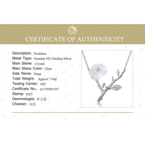Image 5 - Lotus fun real 925 prata esterlina designer artesanal jóias finas flor na chuva colar com pingente para mulher collier