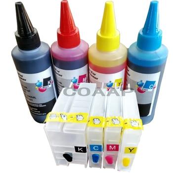 Cartuccia di inchiostro riutilizzabile per hp950 Compatibile 951 Officejet Pro 8630 8640 8660 8615 8625 Stampante + 400 ml inchiostro Dye (AAA chip)