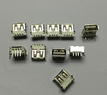 Free shipping 10PCS USB Type A Standard Port Female Solder Jacks Connector