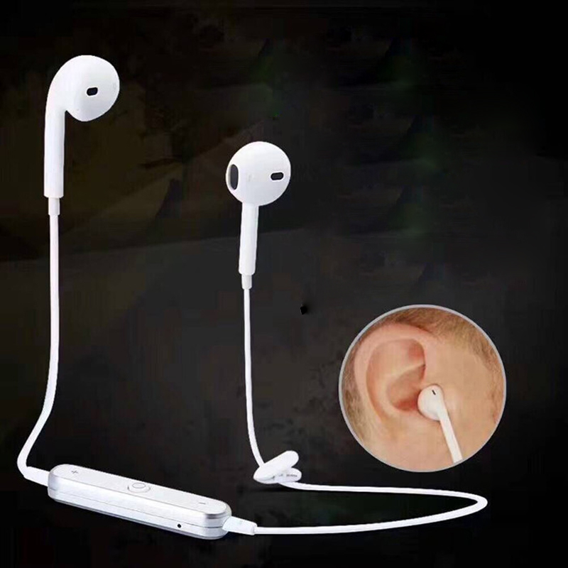 S6 Wireless Headphone Bluetooth Earphone Headphone For Phone Neckband sport earphone Auriculare CSR Bluetooth