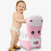 Baby Pedestal Pan Toilet Training Trainer Urinal Stool Safety Comfortable Cute Cow Potties Seats Potty For Children Boys Girls