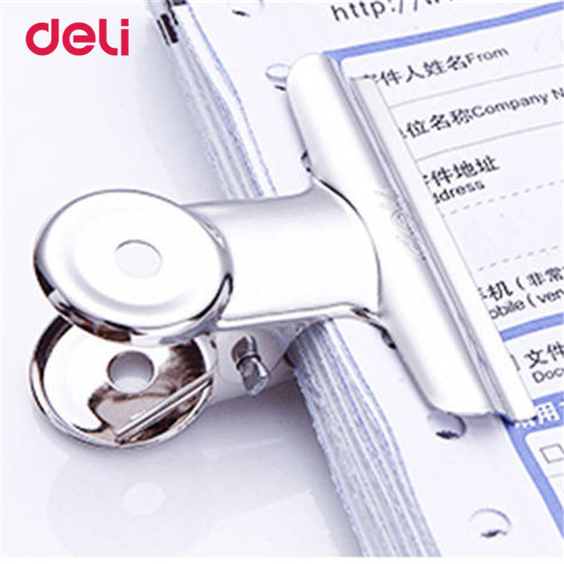 Deli Silver Tone Metal Office Paper Deli Practical Staple 6pcs A Set Clips 29 Mm Stainless Steel Normal Paper Clips