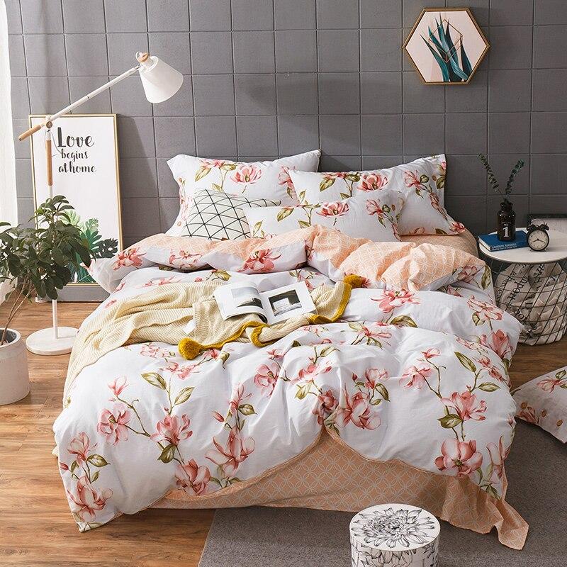 Pastoral Style Cotton Floral Printing Duvet Cover Set 3/4pcs bed set Single Queen King Size Bed linen bedding sets