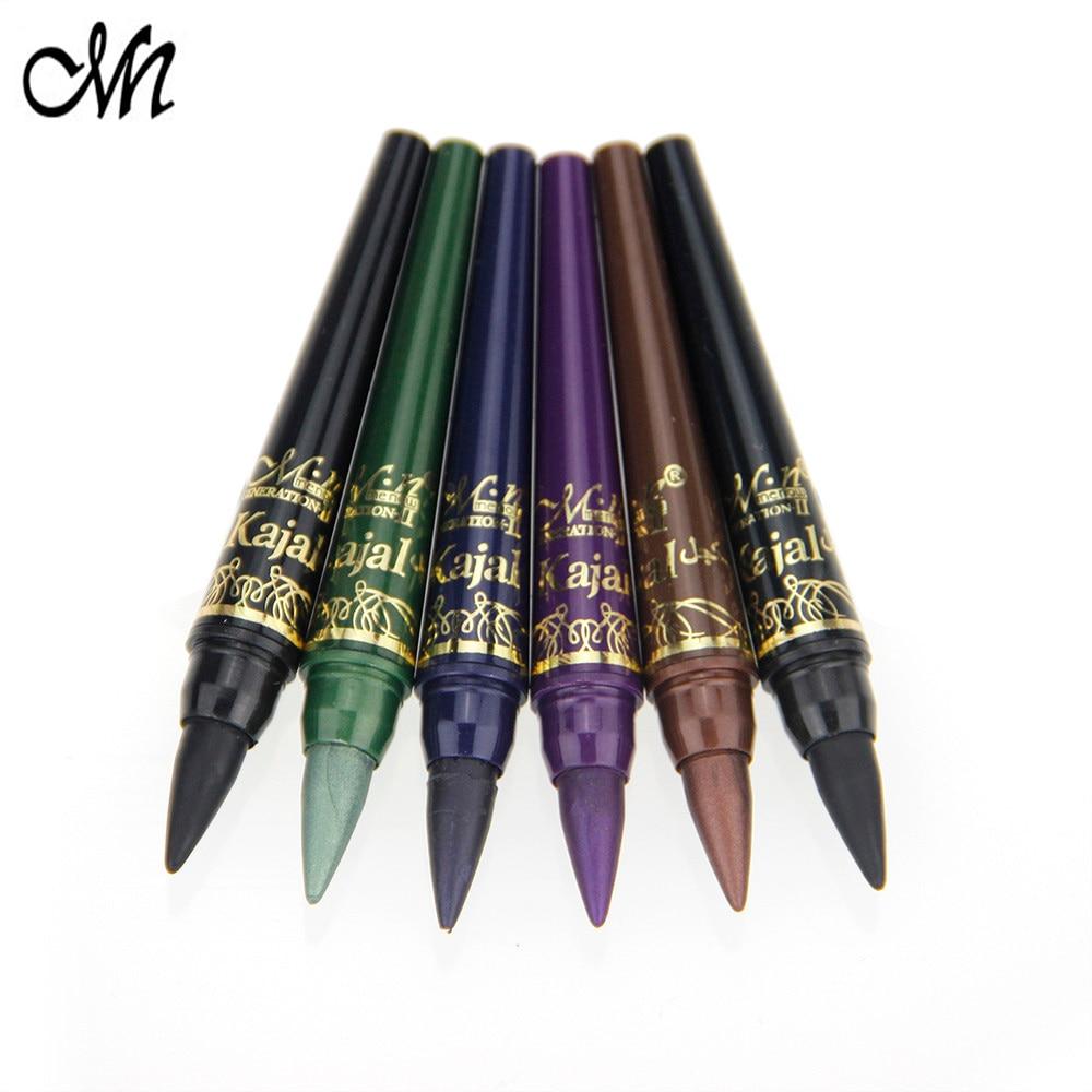 2017 menow 6 colors women makeup eye shadow pencil set waterproof eyeliner pencil eye liner. Black Bedroom Furniture Sets. Home Design Ideas
