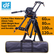 DIGITALFOTO คาร์บอนไฟเบอร์กล้อง 10kg หมี Travel Video Slider Dolly TRACK DSLR Rail สำหรับ Nikon Canon SONY videographer