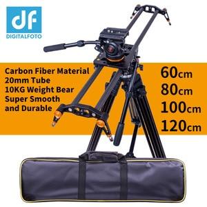 Image 1 - Digitalfoto 炭素繊維カメラスライダー 10 キロクマ旅行ビデオスライダードリー一眼レフレールニコン、キヤノン、ソニー videographer