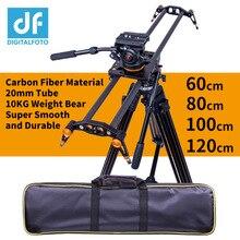 Digitfoto controle deslizante de câmera, fibra de carbono, 10kg, urso, controle de vídeo para viagem, dslr rail para nikon, cannon, sony