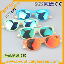 J0193C Hot sale new brand designer high quality wood/bamboo temple sunglasses sunshades