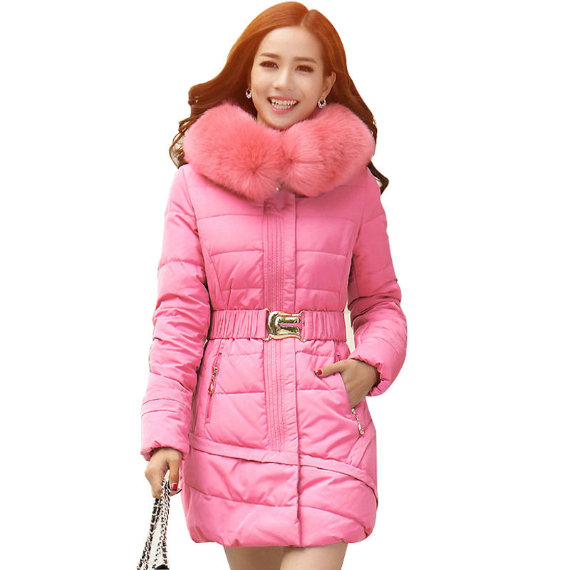 Plus Size 4XL Winter Jacket Women Fur Collar Wadded Cotton Jacket Female Parka Ukraine Women Winter Coat Hoody Long Jacket C2466 стоимость