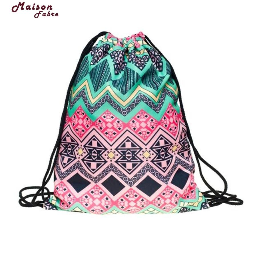 New Fashion Travel Lunch Shoulder Bag Unisex Christmas Backpacks Printing Bags Drawstring Backpack Free Shipping725#23