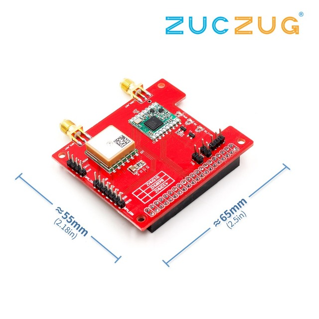 LorGPS HAT V1 0 version Lora/GPS_HAT is a expension module for LoRaWan and  GPS for ues with the Raspberry Pi