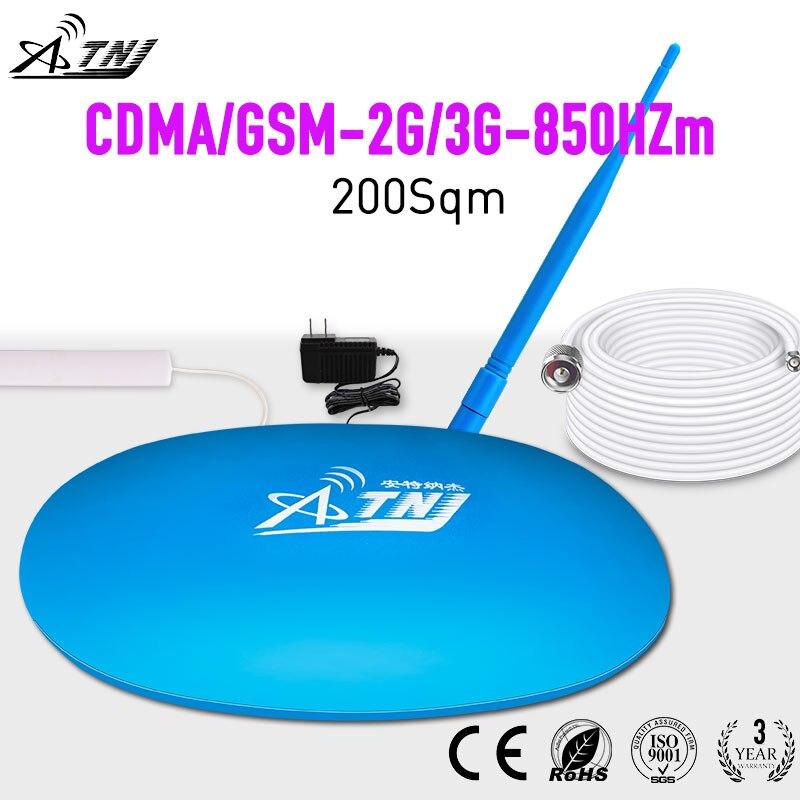 Meilleur Prix! Mini amplificateur de Signal Mobile ATNJ gsm 2g 3g cdma 850 Mhz, répéteur de Signal 2 3G, amplificateur de signal cellulaire + antenne bâton