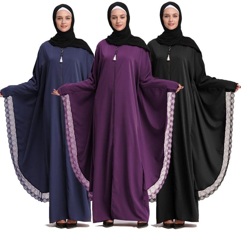2019 Kaftan Abaya Dubai Islam Long Muslim Hijab Dress Qatar UAE Jilbab Abayas For Women Caftan