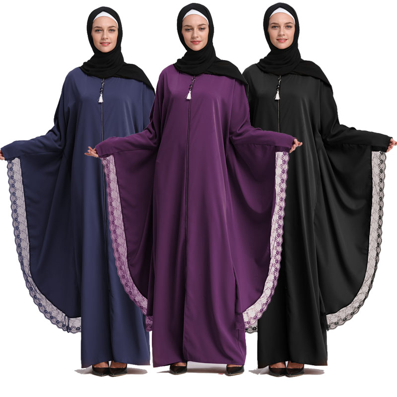 2019 Kaftan Abaya Dubai Islam Long Muslim Hijab Dress Qatar UAE Jilbab Abayas For Women Caftan Elbise Turkish Islamic Clothing handbag