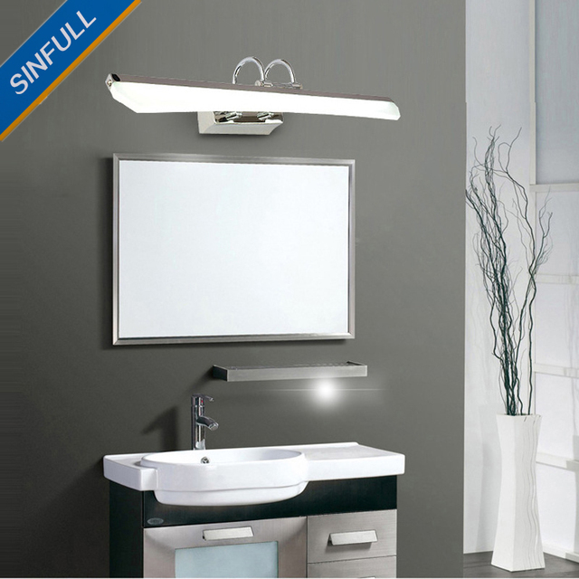 LED Bathroom Mirror Front Light Modern Simple Wall Lights Anti Fog Lamp New