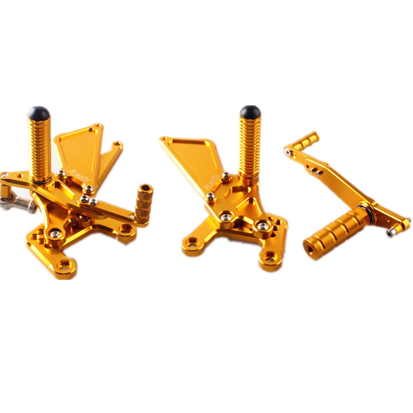 Gold For Yamaha YZF R1 YZF-R1 2009 2010 2011 Adjustable Rearset Foot Pegs Footrest Pedals