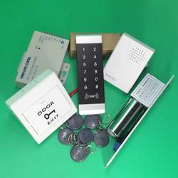 Zestaw kontroli dostępu FRID zamek elektryczny + klawiatura dotykowa bezpieczeństwo drzwi dla systemu bezpieczeństwa