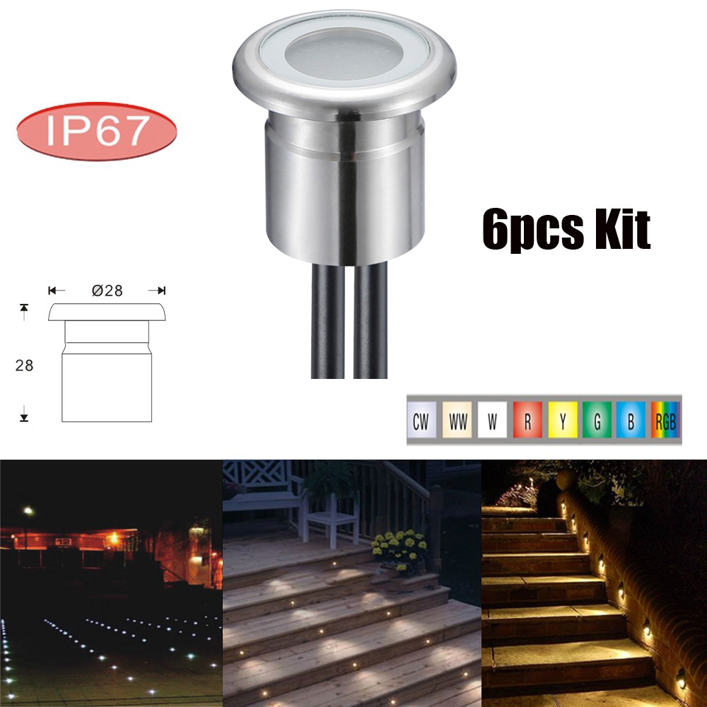 Led Underground Lamps Reasonable 6pcs/lots Round Stainless Steel Modern Outdoor Floor Lamp Led Recessed Led Inground Garden Lighting Ip67 Dc12v 0.8w Can Be Repeatedly Remolded.