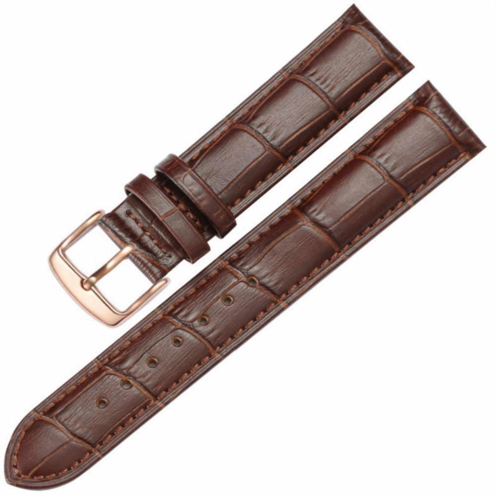استبدال جلد البقر حزام ل العلامة التجارية ووتش جلدية سوار ساعة مربط الساعة للرجال النساء 16 مللي متر 18 مللي متر 20 مللي متر 22 مللي متر