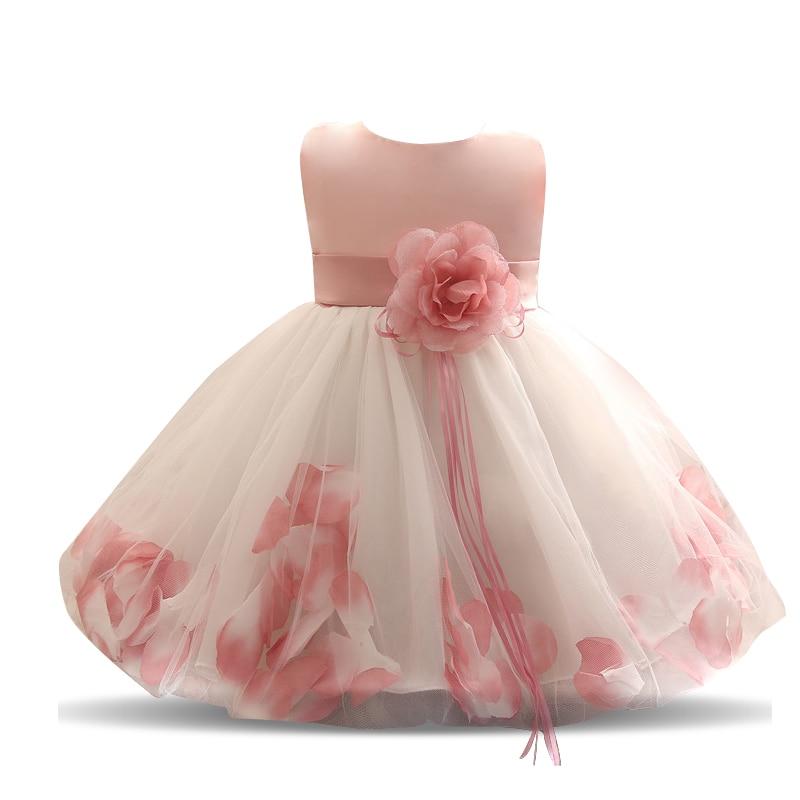 5b8bea4d0074 Flower Tulle Toddler kids Christening Costume Newborn Baby Girl 1 ...