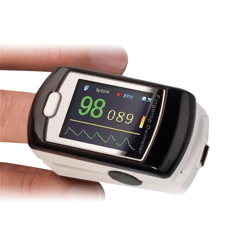 CONTEC CMS50E Color OLED Fingertip SPO2 Pulse Rate Oximeter with PC Software USB Audio Alarm chargeable Monitoring for 12 hours